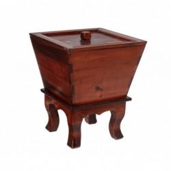 caja de madera cuatro patas