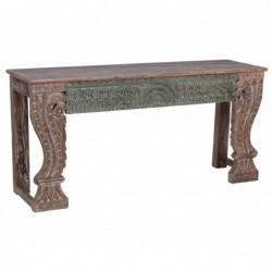 consola de madera tallada