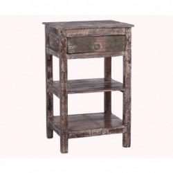 mesa con cajón y dos estantes