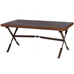 mesa plegable de madera con...