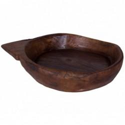 plato de centro de madera