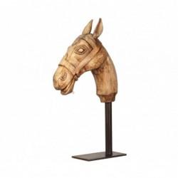cabeza de caballo con pie...