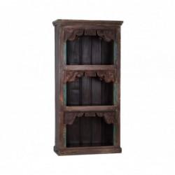 librería de madera tallada