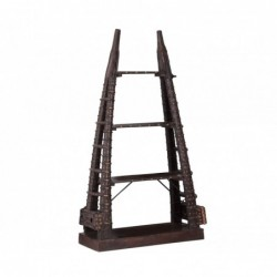 estantería piramidal de madera