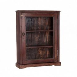 vitrina con estantes