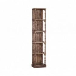 estanteria de madera con 5...