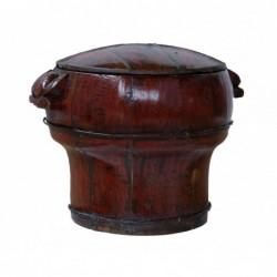 caja de madera redonda